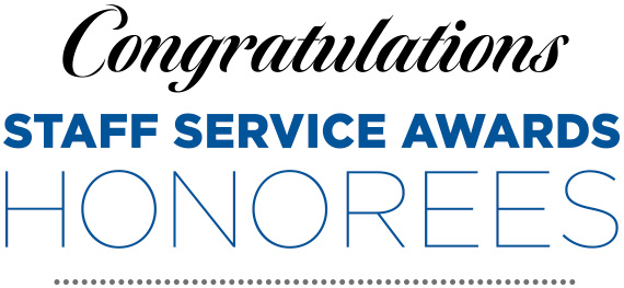 UCI Human Resources | Staff Service Awards Honorees